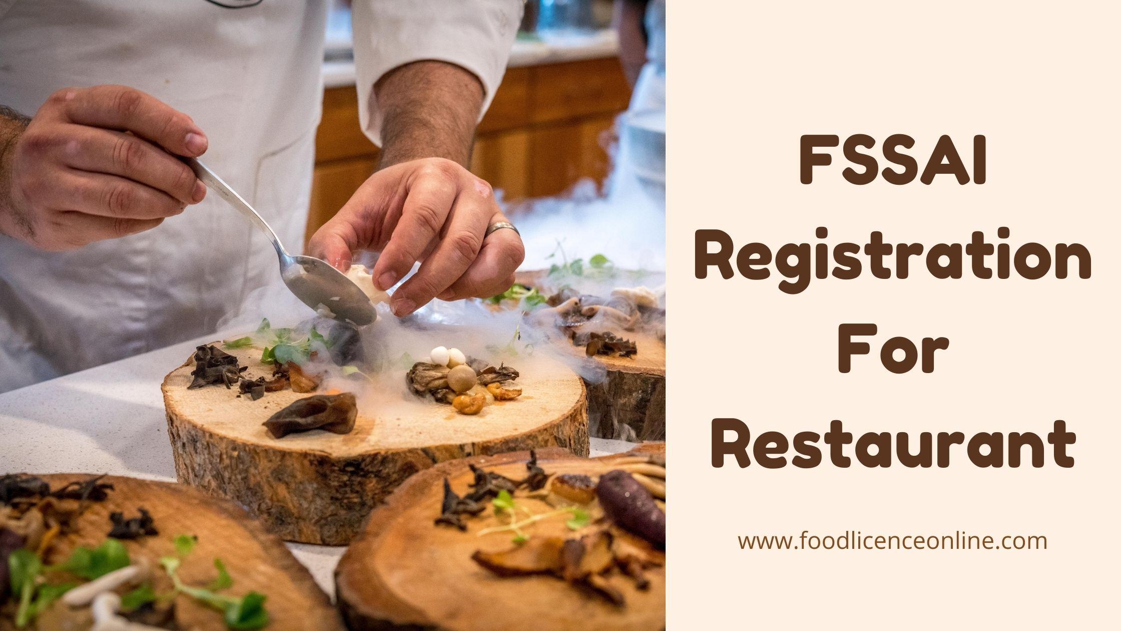 FSSAI License Registration For Restaurant